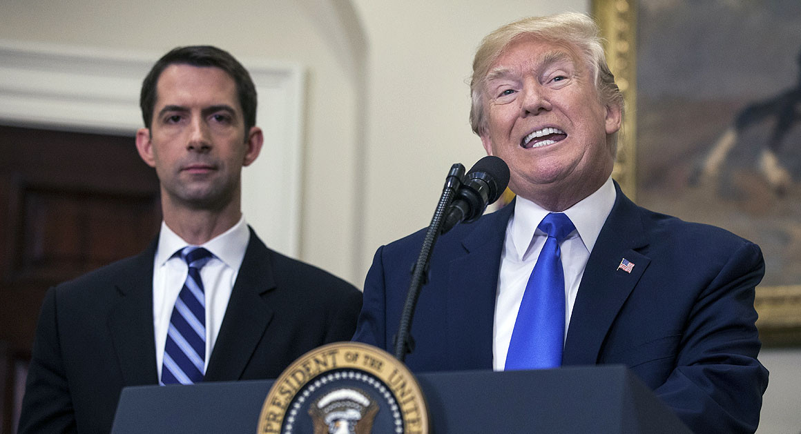 Enraged Trump threatens Republican Senator Tom Cotton and vows MAGA voters will 'never forget'