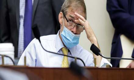 Jim Jordan is outraged that scientists are now suggesting two masks are better than one