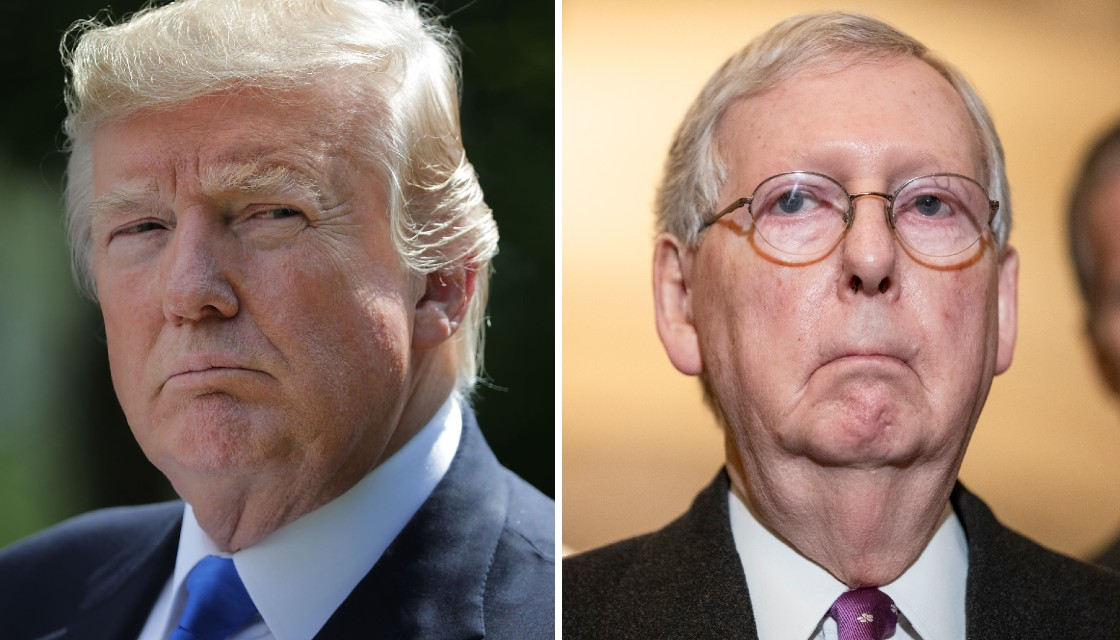 Enraged Trump launches attack on 'political hack' Mitch McConnell and demands his ouster