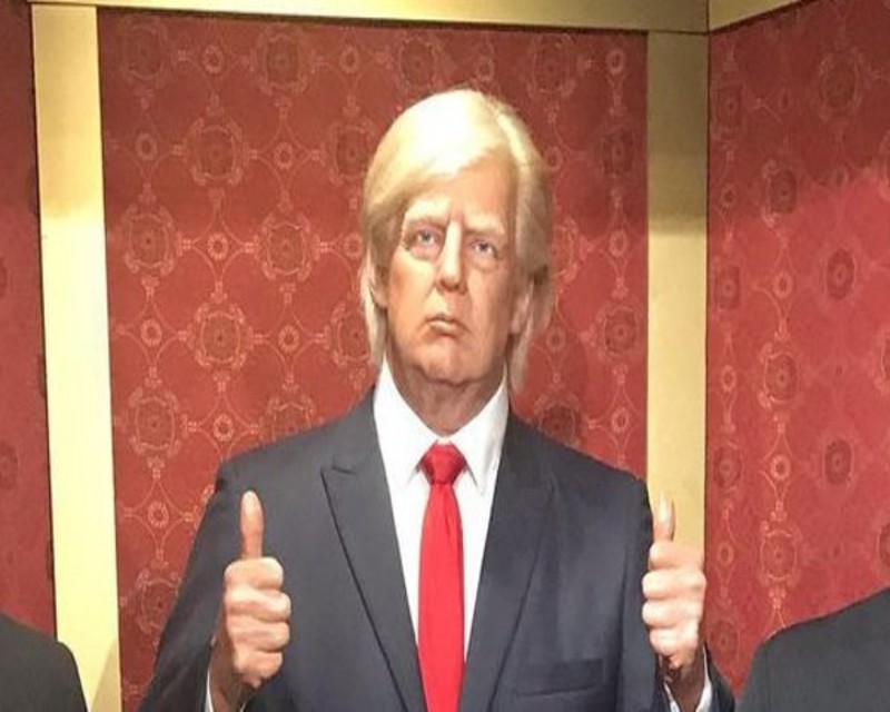 Texas museum has to hide Trump's wax sculpture because people keep punching it in the face