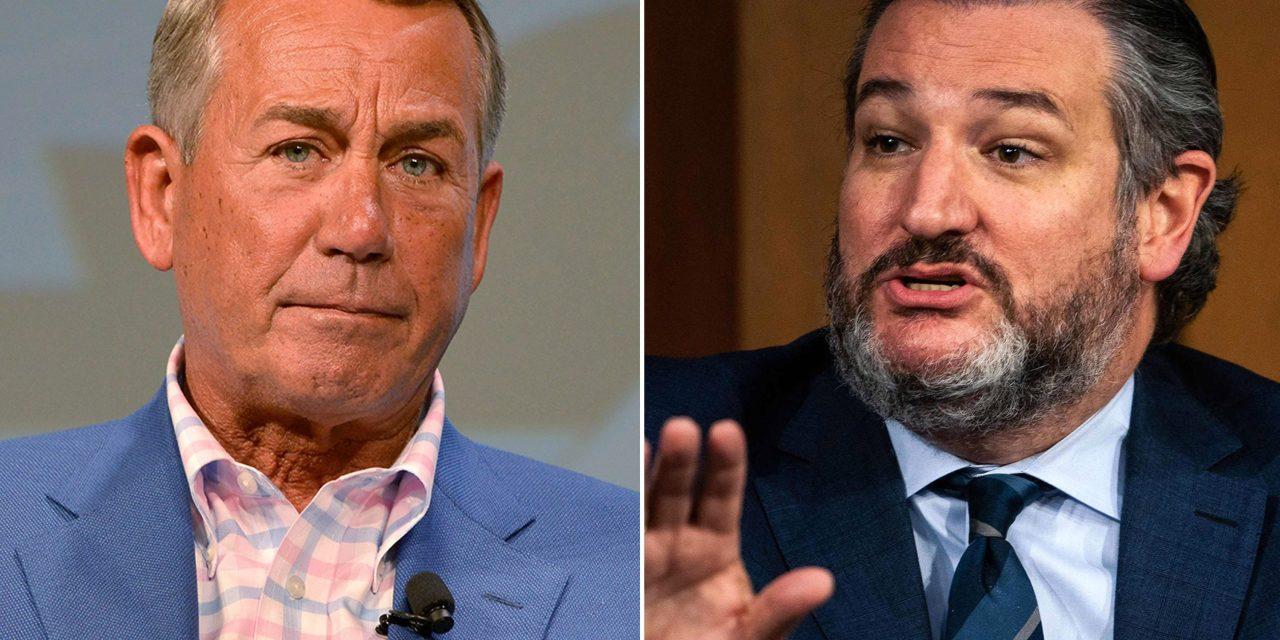 Ted Cruz gets slapped down for saying he'll burn John Boehner's new book