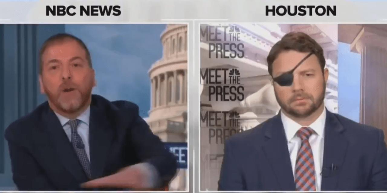Chuck Todd shuts down Dan Crenshaw when he blames the 'liberal' media for GOP infighting
