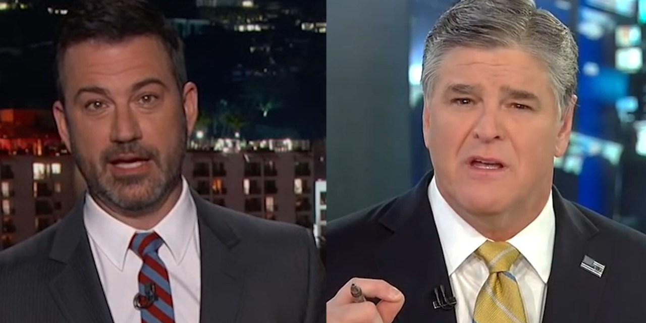 Sean Hannity whines about Jimmy Kimmel criticizing his show: He's 'an ignorant as*hole'