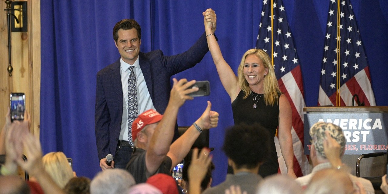 Venue cancels 'America First' rally after learning Gaetz and Greene would be speaking