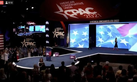 The internet points and laughs at CPAC stage that looks like a phallus