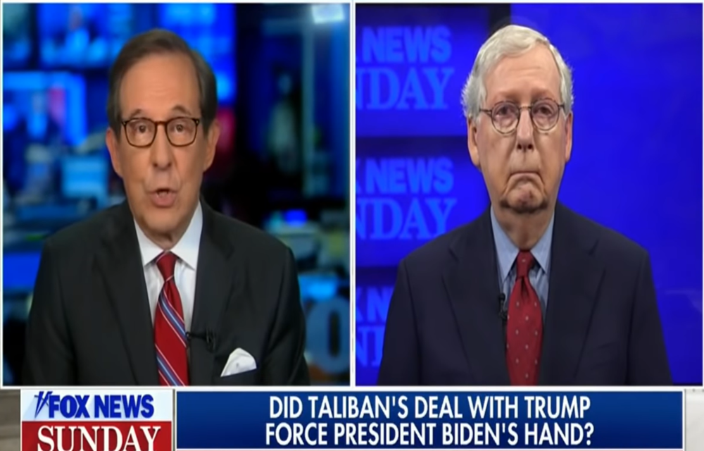 Chris Wallace hectors McConnell for his hypocrisy on the situation in Afghanistan
