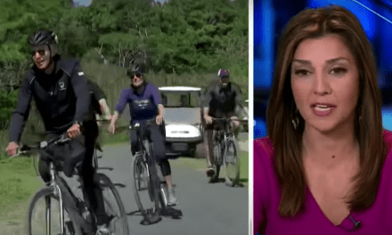 Fox News throws a fit over Biden riding a bicycle