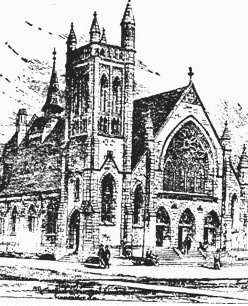 First United Methodist Church as it appeared in 1946
