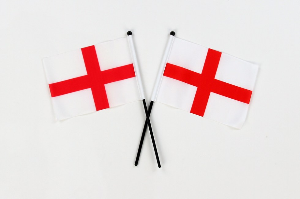 England Flags | Small Hand Waving Flags