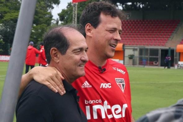 Muricy encontra Diniz no São Paulo e diz: 'Dá gosto falar do seu trabalho'  | LANCE!