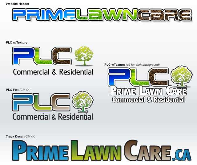 Prime Lawn Care Header Logo Development