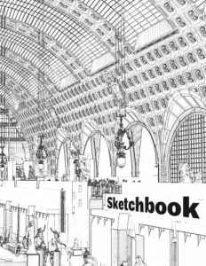 Blank Sketchbook for Traveler and Designer: 100 Pages (8.5″x 11″) Blank Paper for Drawing and Sketching