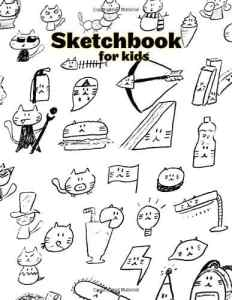 Creative Sketchbook for kids: 100 Pages (8.5″x11″) Blank Paper for Drawing and Sketching