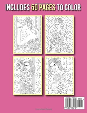 Beautiful Dresses: An Adult Coloring Book with Women's Fashion Design, Vintage Floral Dresses, and Easy Flower Patterns…