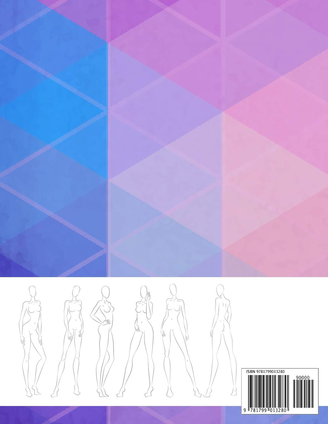 430 Fashion figure template sketchbook