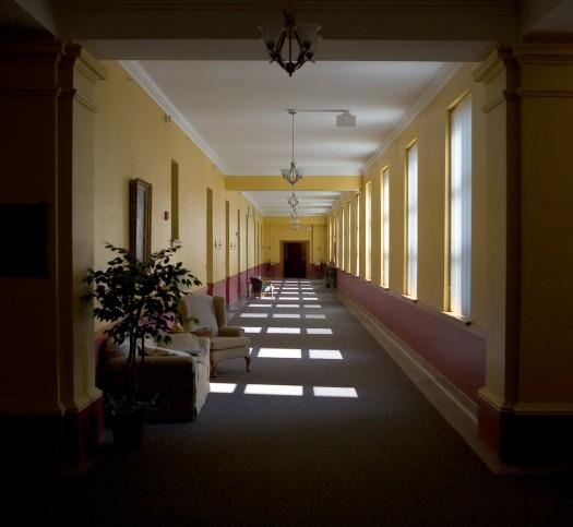 Empty Church Hallway