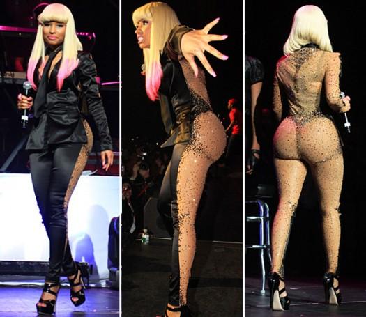 Nicki Minaj sheer outfit