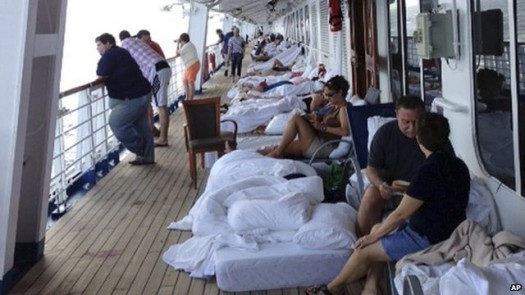 Carnival Triumph Cruise Line Passengers On Deck