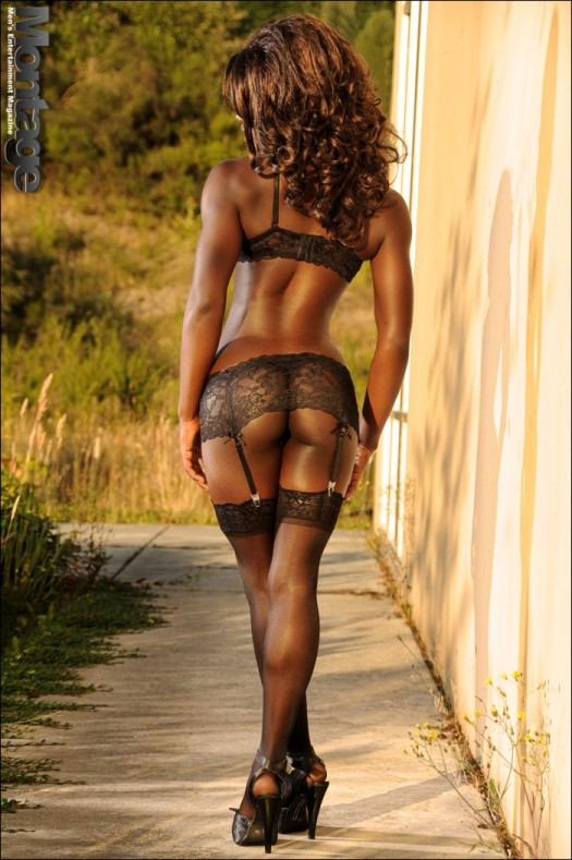 Sexy Black Woman Back Shot
