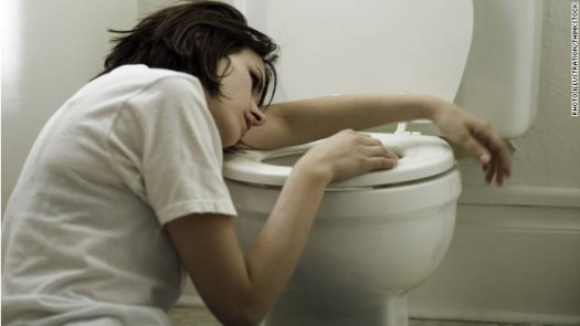 Throwing Up In Toilet