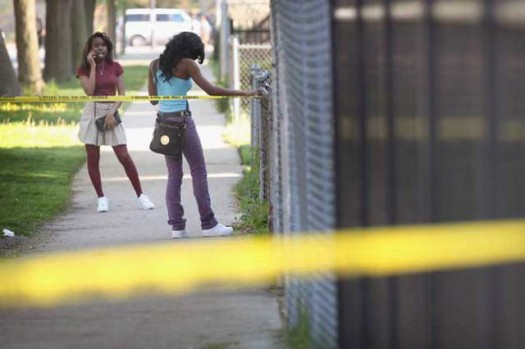 Police Taped Off Chicago Crime Scene Youth