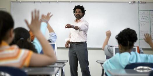 Black Male Teacher In School