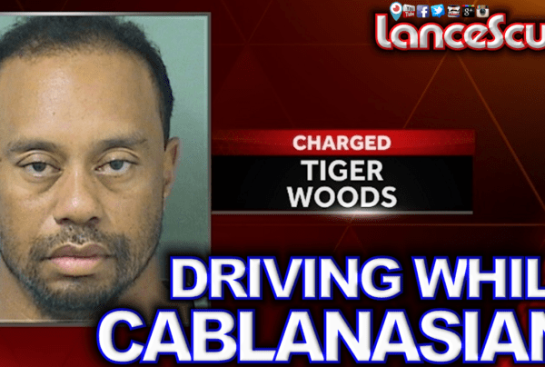 A Drunk Tiger Woods Gets Caught Driving While Cablanasian & Forced To Check The Black Race Box!
