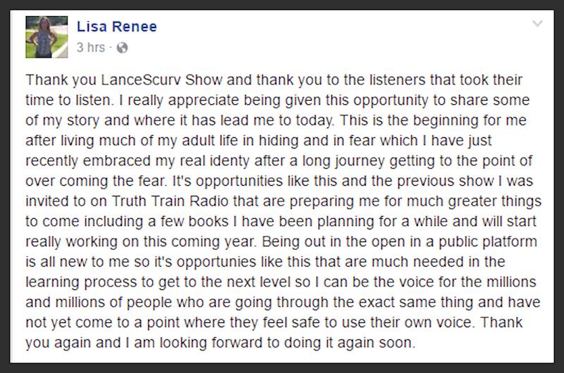 Gangstalking & Trauma Based Mind Control: Lisa Renee's Journey To Hell & Back! - The LanceScurv Show