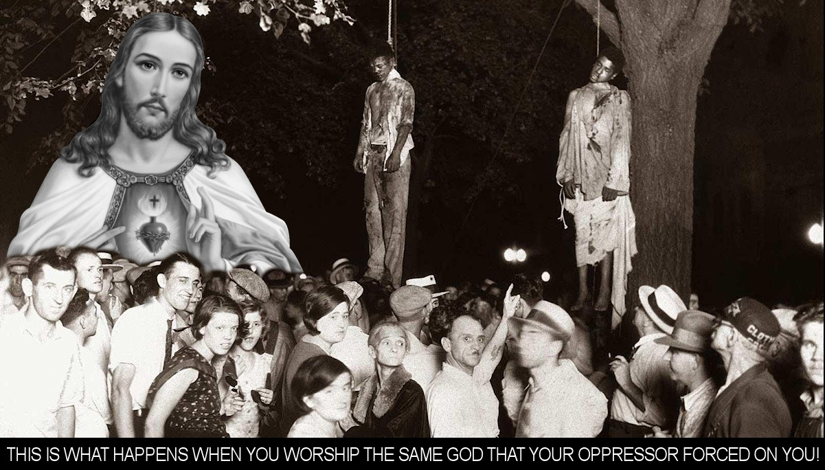 This is what happens when you worship the same god that your oppressor forced on you!