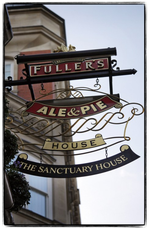 Sign for Fullers and Sanctuary House -  Image (c) Lancia E. Smith - www.lanciaesmith.com