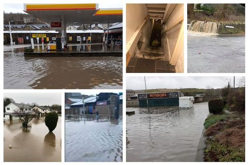 Flooding across Rossendale caused by Storm Ciara
