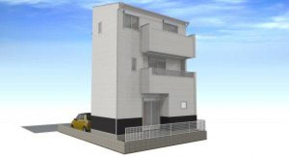春日井・西本町の家パース3