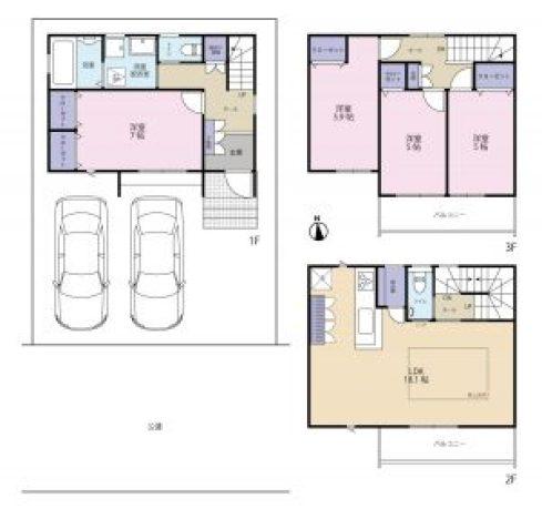 須ケ口の家第二 間取図