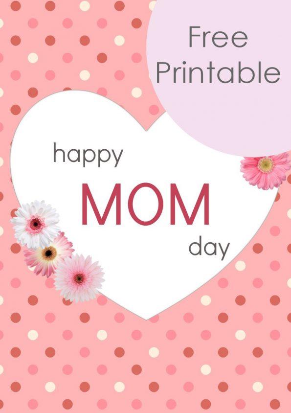 Free Printable - Muttertagskarte kostenlos herunterladen