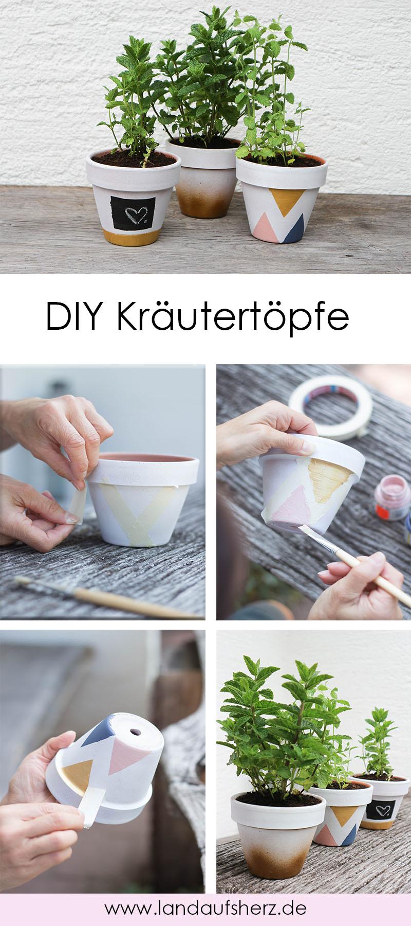 DIY Kräutertöpfe