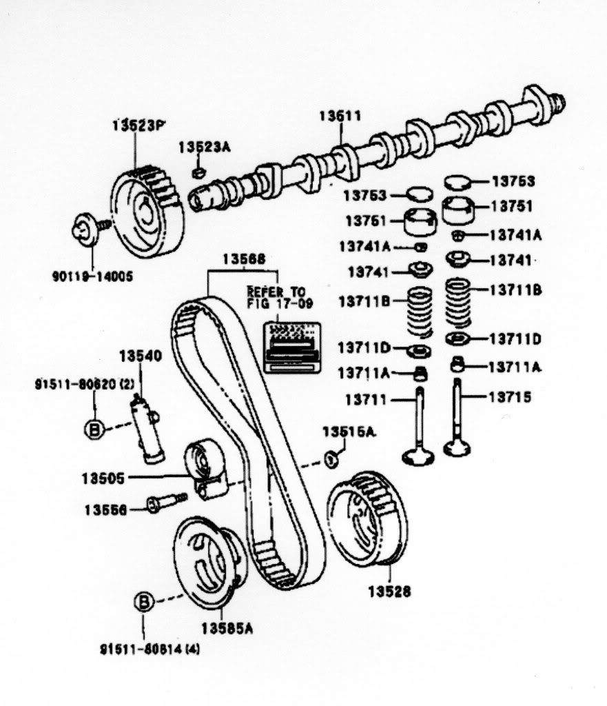 Toyota Timing Marks Diagram