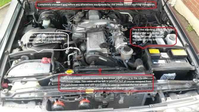 12 volt starting conversion on a 1997 24 valve manual 80