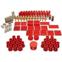 Energy Suspension 818105R Bushings - Suspension Bushing Kit; Hyper-Flex System; Incl. Front And Rear Spring And Shackle Bushings; Body Mount And Ha