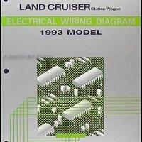 1993 Toyota Land Cruiser Wiring Diagram Manual Original