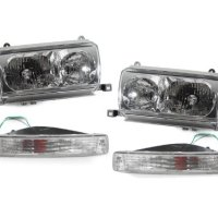 CPW (tm) 1991-1997 TOYOTA LAND CRUISER FJ80 6 PIECE CLEAR HEADLIGHTS SET - NEW