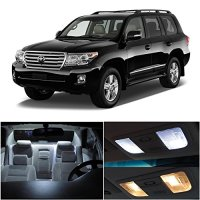 LEDpartsNow Toyota Land Cruiser 2013 & Up Xenon White Premium LED Interior Lights Package Kit (9 Pieces) + Install Tool