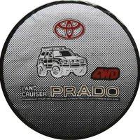 Car Styling 17 Inch PVC Spare Tyre Cover Spare Wheel Cover For TOYOTA LAND CRUISER PRADO FJ120 FJ150 FJ80 FJ100