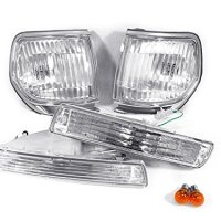 CPW (tm) 91-97 TOYOTA LAND CRUISER FJ80 CLEAR BUMPER LIGHTS + BULBS