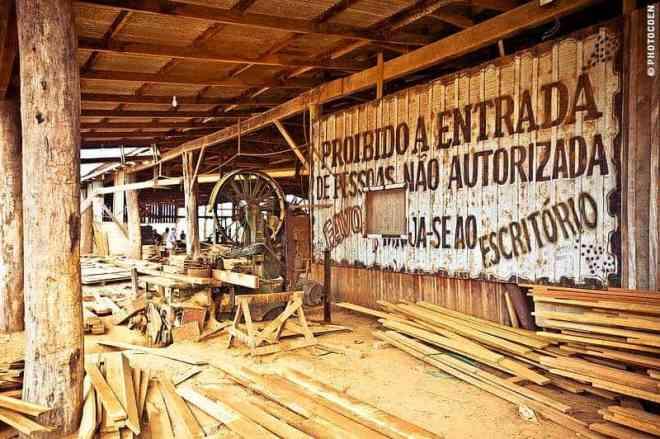 Sawmill along the TransAmazonian Highway