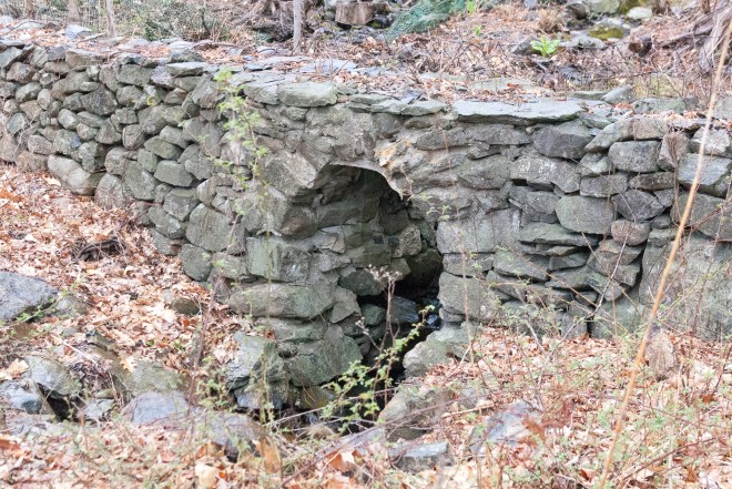 Stone Wall with Arch for Water