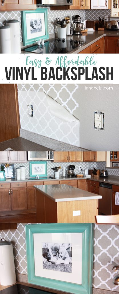 Easy Vinyl Backsplash For The Kitchen! Thereu0027s A Video On How To Apply It  Too