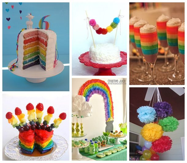 Fun Rainbow Themed Recipes and DIY Craft Decoration Tutorials - Perfect for St. Patrick's Day