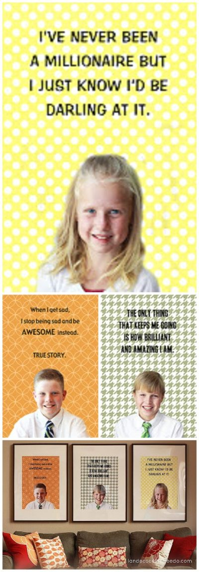 FREE TEMPLATE to create your own DIY Motivational Posters using photos of you and your kids!