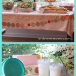 WEDDING SHOWER DECORATIONS - A one minute tutorial to make a pretty decorative DIY GARLAND for any party!