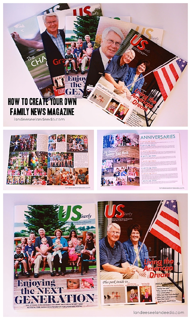 How To:  Create a FAMILY NEWS MAGAZINE!  It's so fun!  Suggestions on printing and great ideas for content and Q&A sections your whole family will LOVE!
